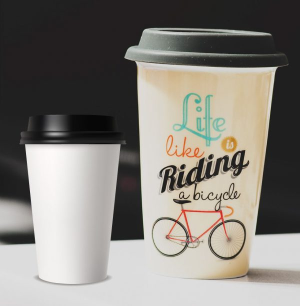 Poly Paper Cup with Lid